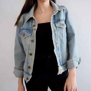 Oversized Light Wash American Apparel Denim Jacket
